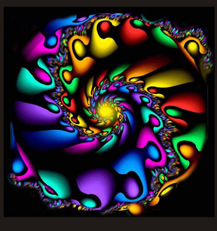 Mandala espiral de colores