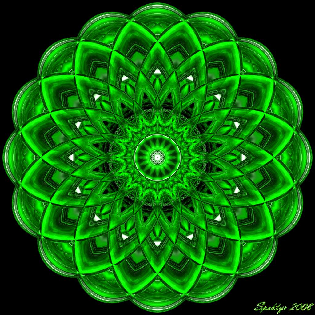 Mandala verde blogdepelusita - Colores para mandalas ...
