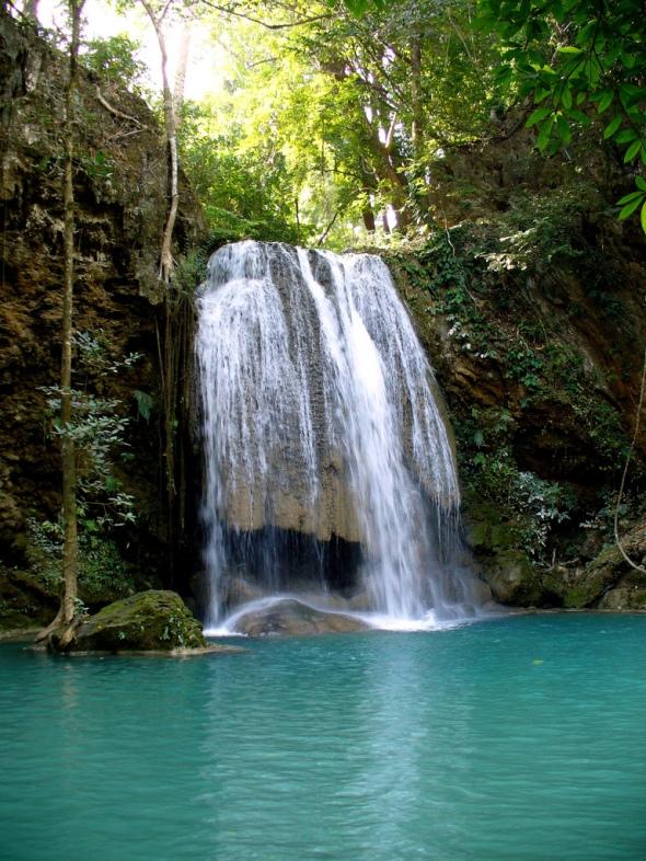 Cascada Erawan, Kanchanaburi, Tailandia